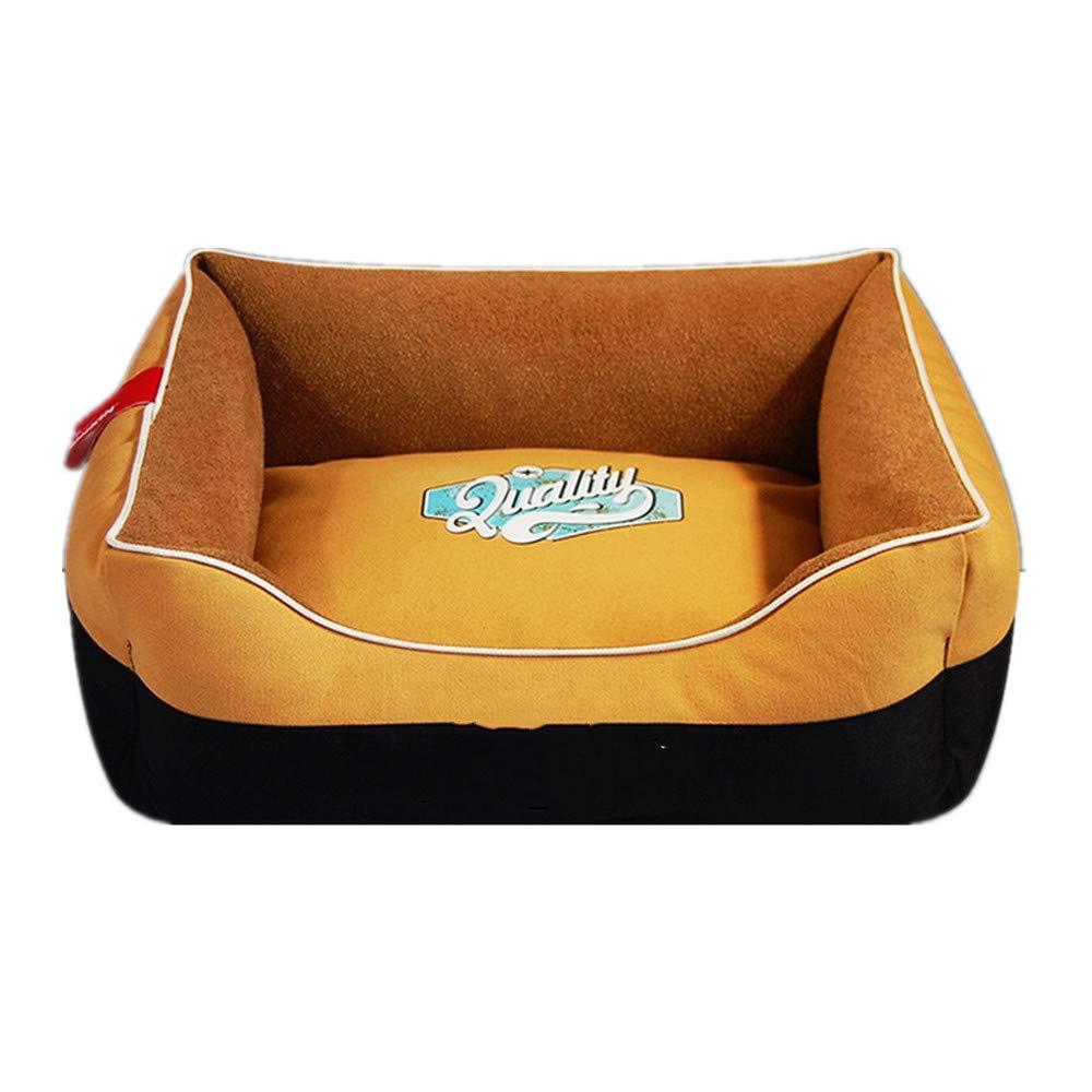 tienda de bajo costo 35x45 cm Mzdpp Lona De De De Lujo Cuadrado para Mascotas Cama para Perros Alfombra para Gatos Almohada Suave Costura Amarilla 35X45 Cm  el más barato