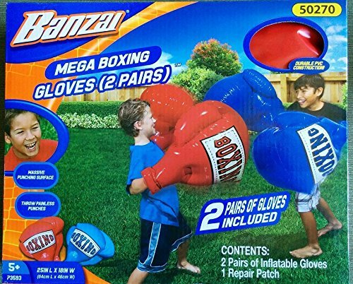 Banzai Mega Boxing Gloves with TWO Pairs of Gloves! by Banzai