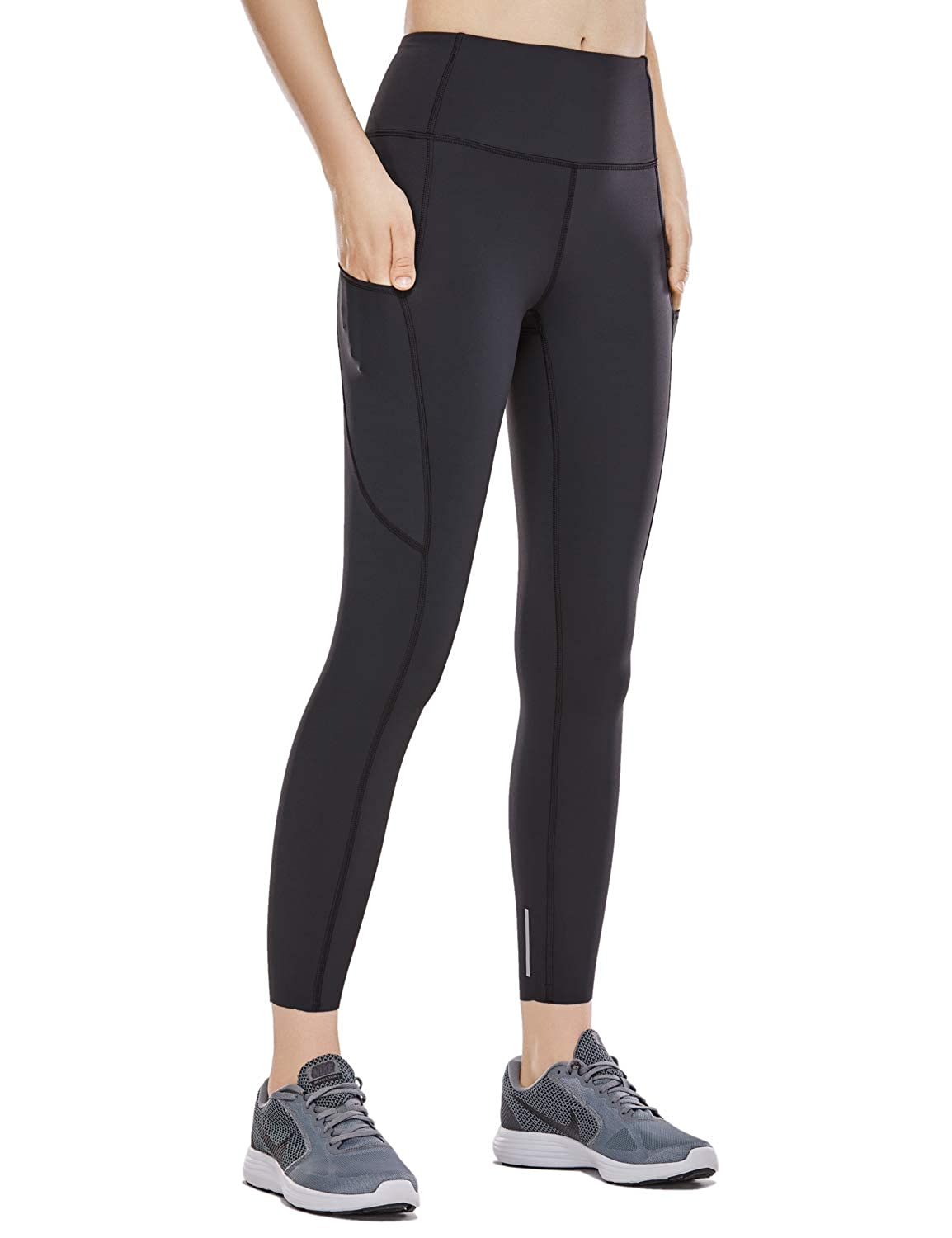 3c6fd6a684159 CRZ YOGA Women's Naked Feeling High Waist 7/8 Tight Training Yoga Leggings  with Side Pocket-25 Inches at Amazon Women's Clothing store: