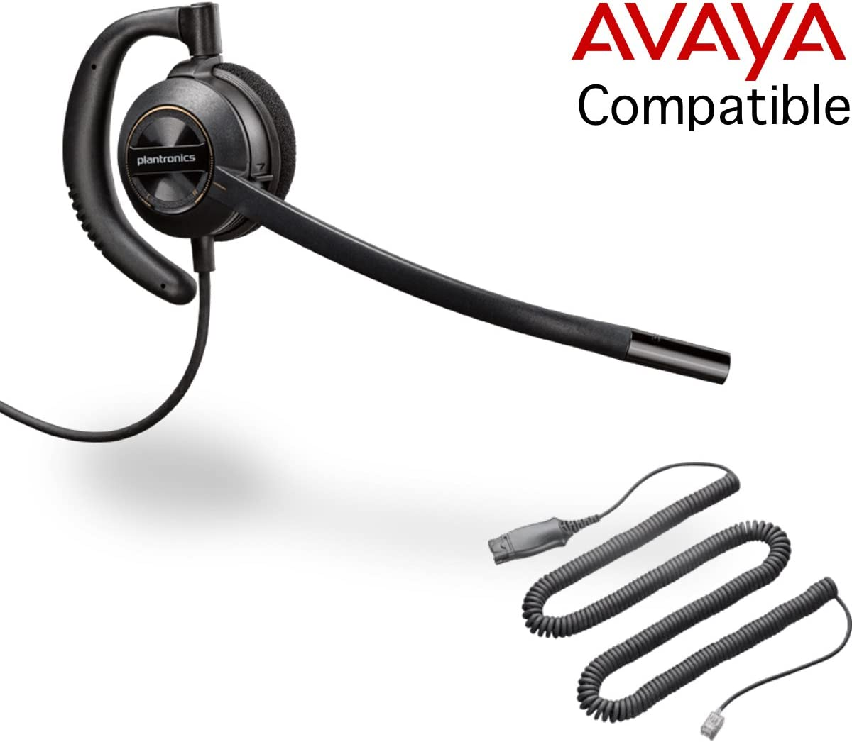 Amazon Com Global Teck Bundle Of Plantronics Hw530 Headset W Mute Button Foavaya Phones Compatible With Avaya 1600 And 9600 Series Ip Phones Office Products