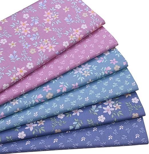 Juego de 6 piezas de tela de algodón para costura, 46 x 56 cm ...