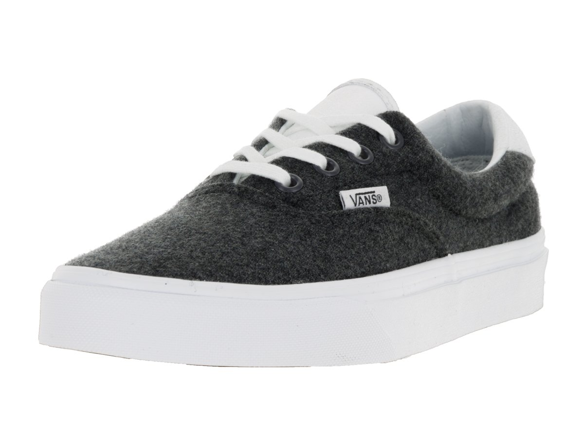 Vans Unisex Era 59 Skate Shoes B019HDHKB2 11.5 M US Women / 10 M US Men|Charcoal/True White