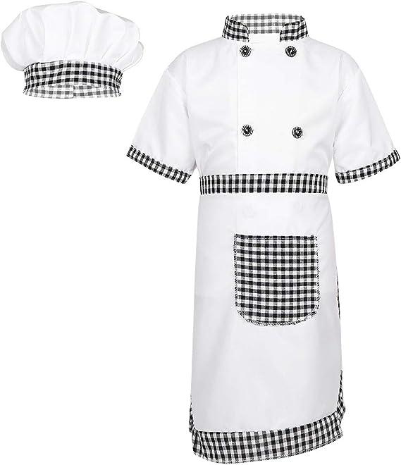 dPois 3pc Disfraz Chef Infantil Niño Niña Unisex Cosplay Cocinero ...