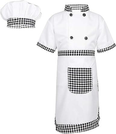MSemis Unisex Disfraz de Cocinero para Niños Niñas Cosplay Chef ...