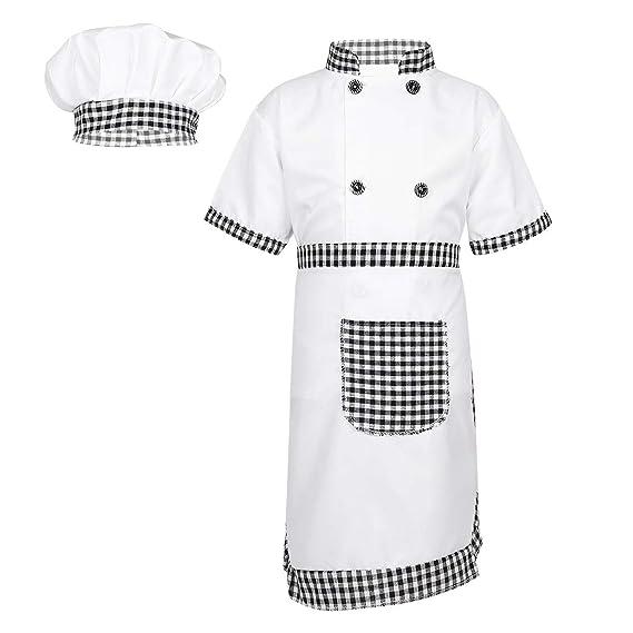TiaoBug Disfraz Cocinero para Niños Niñas Infántil Uniforme ...