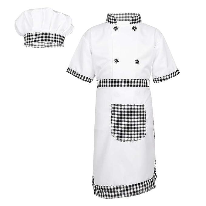 ranrann Disfraz de Cocinero para Niña Niño Cosplay Traje de Cocina ...