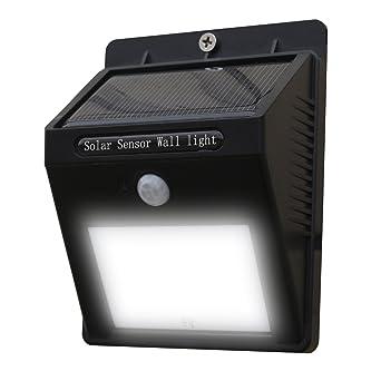 Lámpara solar, 10 Bluesim LED con detector de movimiento inalámbrico impermeable y resistente a la