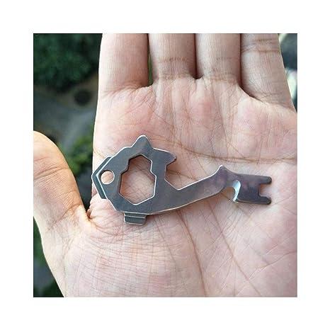VisvimQ 20-en-1 Edc Multi-Tool Pocket Llavero Multi ...