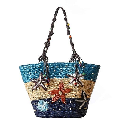 Bolsas de verano de paja de playa Las mujeres tejieron los ...