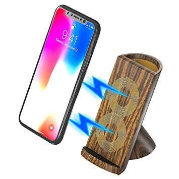 Cargador inalámbrico rápido / 10W Qi Wireless Charger Stand ...