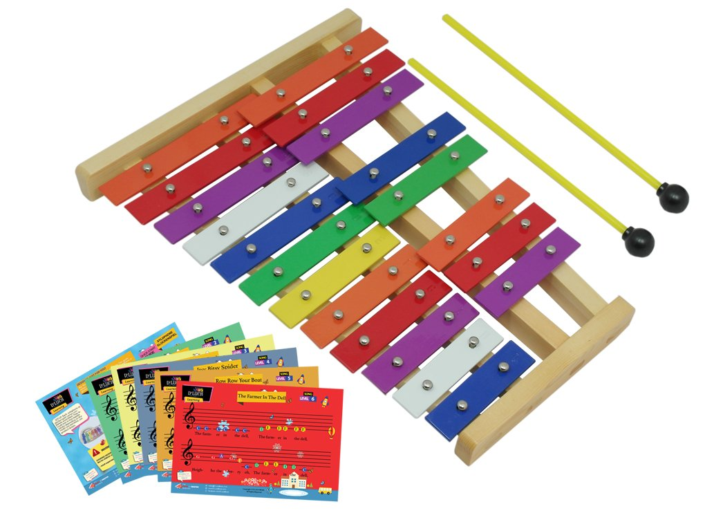 D'Luca TL25D 20 Notes Full Chromatic Xylophone Glockenspiel with Music Cards by D'Luca (Image #5)