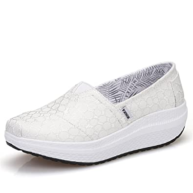 088f3d958b Amazon.com  pit4tk Breathable Fabric Comfortable Shake Shoes Female Casual  Increase Thick Bottom Platform Shoe for Women  Shoes
