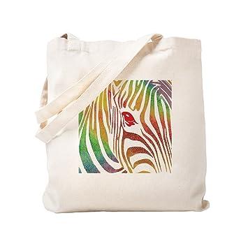 CafePress - Bolsa de tela, diseño de cebra de lona Natural ...