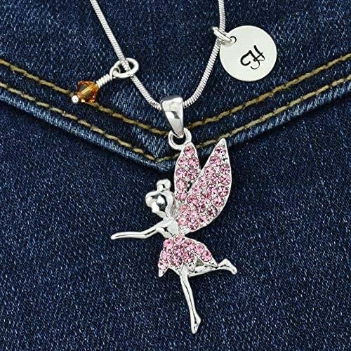 Sparkling Crystal Block Ring Chandelier: Amazon.com: Custom Tinkerbell Fairy Pendant Pink Sparkling
