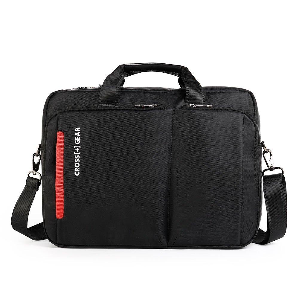 CrossGear Laptop Aktentasche mit Zahlenschloss, 15,6-Zoll-Laptop-Tasche, Business Office Notebook Tablet-Tasche für Männer Frauen CR-2803 (Black)