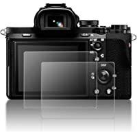 Protective Screen Guard Compatible Sony Alpha A9 A7II A7RII A7SII A7RIII A7R Mark II Camera, AFUNTA 2 Pack Tempered Glass LCD Screen Protector Compatible A7R3 A73 A72 A7R2 A7S2 A7R Mark 2