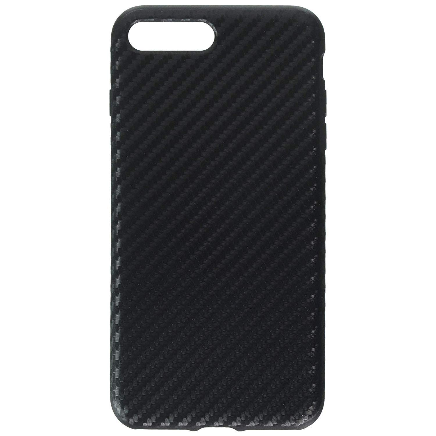 iPhone 7 Plus Case, Rock [Carbon Fiber] - [Light Thin Cover] [Non Slip] [Fingerprint Free] Case for iPhone 7 Plus - Black