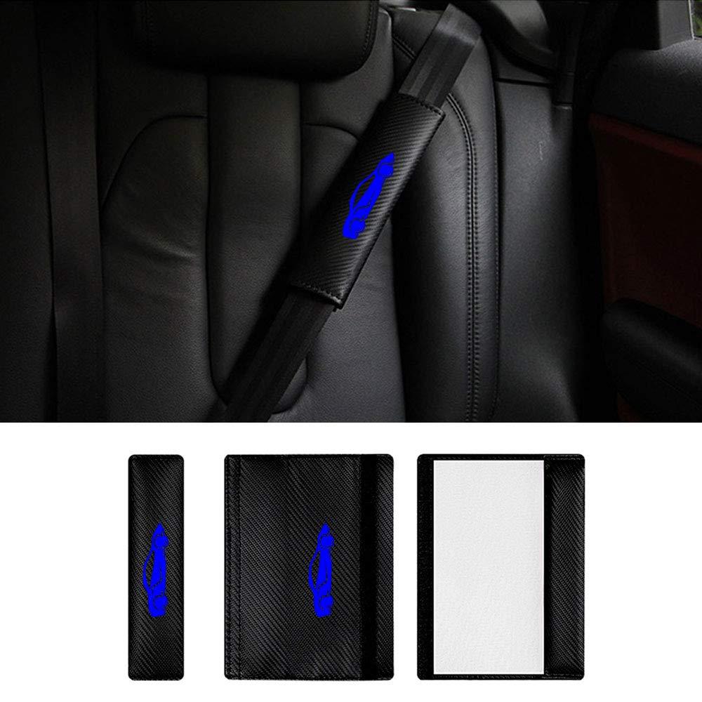 Auto Gurtpolster Gurtschoner Carbon Faser f/ür CT EX is NX GS RX LS RC LC mit Rot Supercar Aufkleber Pack von 2
