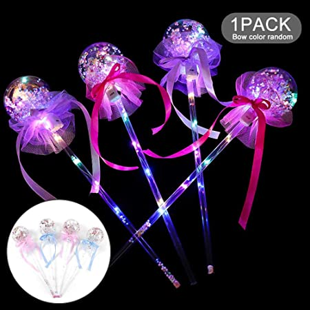 LED Light Up Bobo Balloons Light-up Magic Ball Wand Glow Stick Colorful Glow Stick Balloons Bubble Balloons for Halloween Christmas Birthday Party House Decoration