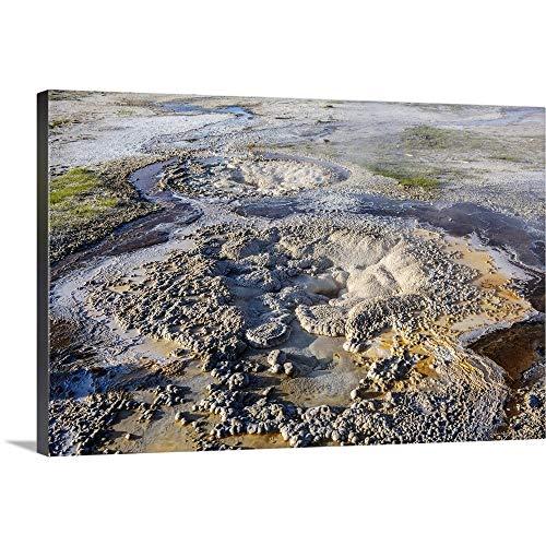 Bubbling Mud Pot, Yellowstone National Park Canvas Wall Art Print, - Mud Bubbling