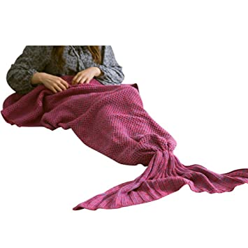 Baywell Sirena techo, punto Saco de dormir manta para mujer Niños niña 180 * 180 cm, Mandala-veilchen, 180 x 180cm: Amazon.es: Hogar