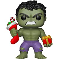 Funko Collectible Figure Pop Marvel: Holiday, Hulk with Stocking, Multicolor