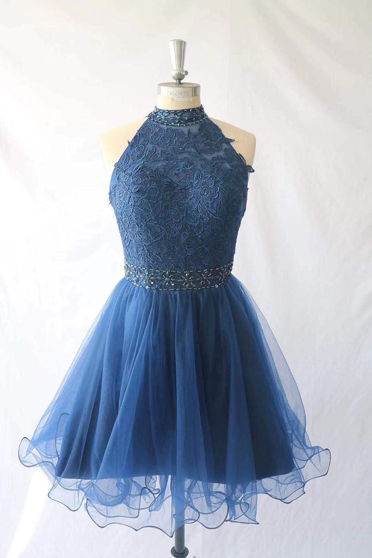 Charmant Damen Navy Blau Abendkleider Kurz Festliche Kleider Damen