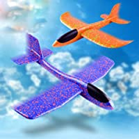 WP Original Flying Glider Foam Planes   Throwing Whirly Glider Planes for Kids, Party Favors (Pack of 1 )