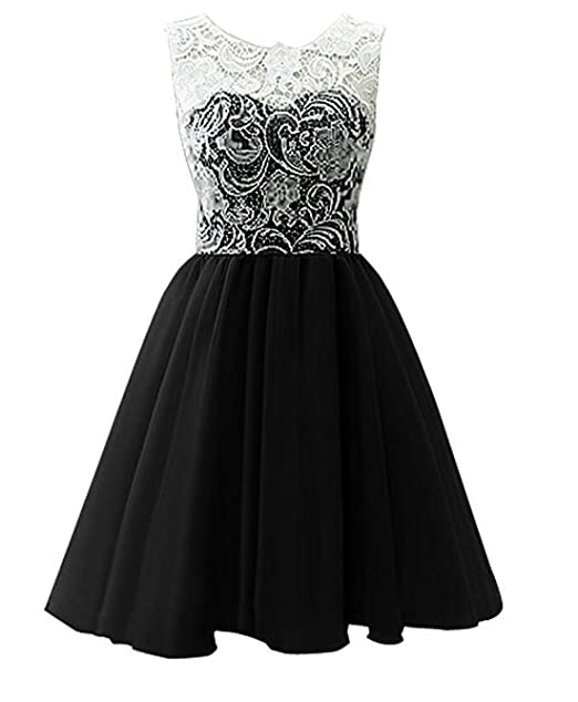 Amazon.com: BCSY Girls Short Tulle Prom Dress Bridesmaid Homecoming ...