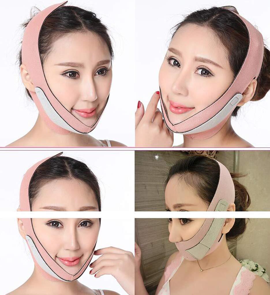 Masque pour Le Visage Bandages pour Le Visage Instrument De Levage du Visage Massage du Visage Rouleau Masseur pour Le Visage V-Face Sleep Ceinture Fine pour Le Visage