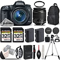 Canon EOS 7D Mark II Digital SLR Camera + Canon EF-S 18-55mm IS STM Lens + 2 Of 32GB Memory Card + Backup Battery + UV Filter. All Original Accessories Included - International Version