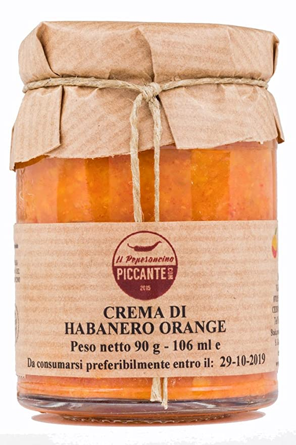 3 opinioni per Crema di peperoncino Habanero orange, molto aromatica, elevata piccantezza. Vaso