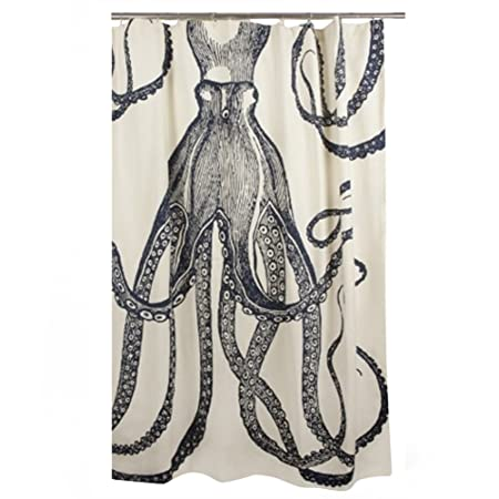 Thomas Paul Shower Curtain Octopus Ink Amazoncouk Kitchen Home