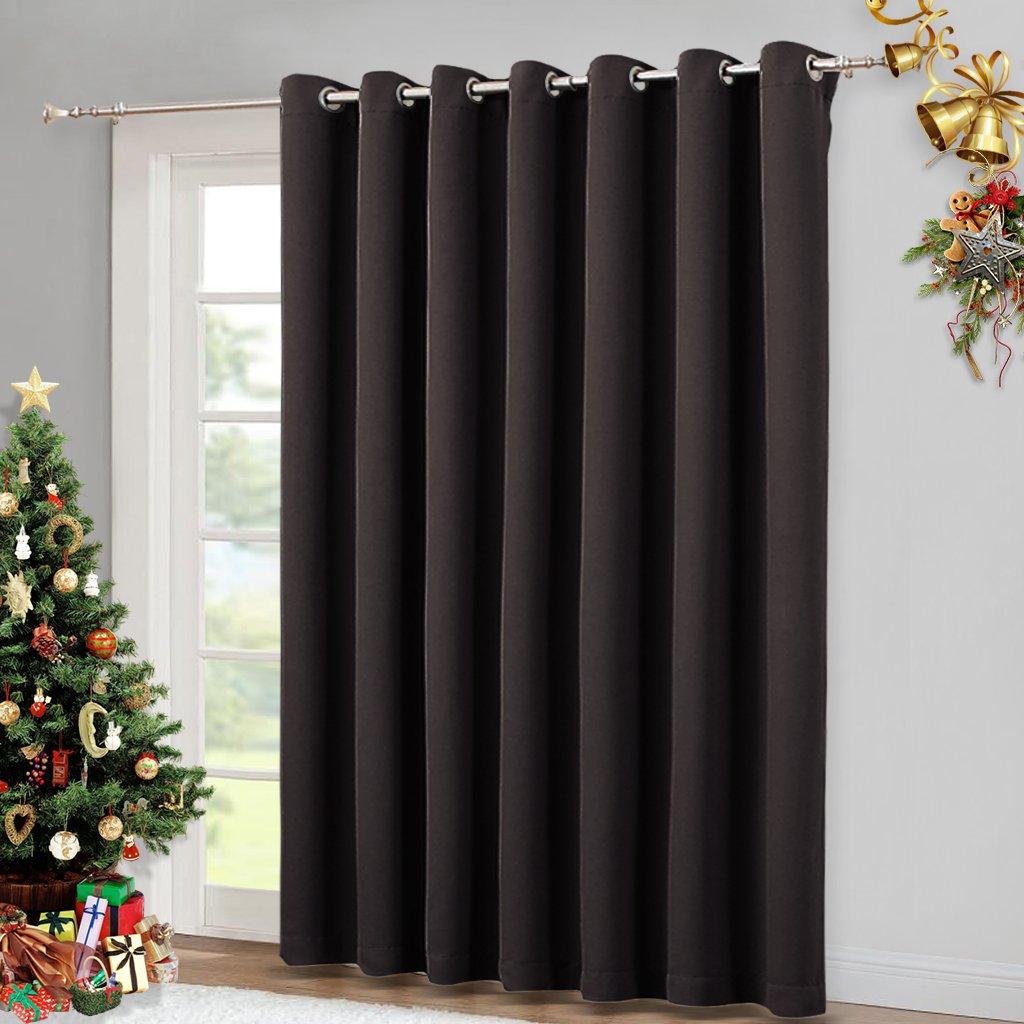Brown Drapes for Sliding Glass Door - Door Blinds, Curtains for Door, Vertical Blinds for Window Toffee Brown