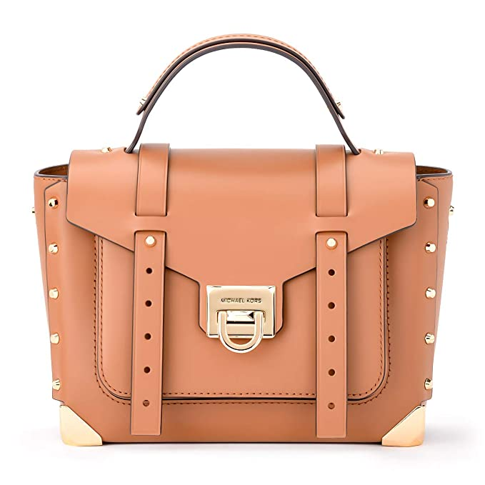 Michael Kors Women's Michael Kors Manhattan Md Shoulder Bag In Acorn Leather Brown