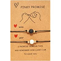 Pinky Promise Couples Bracelets for Boyfriend Girlfriend Gifts Long Distance Relationships Matching Bracelets for Him…