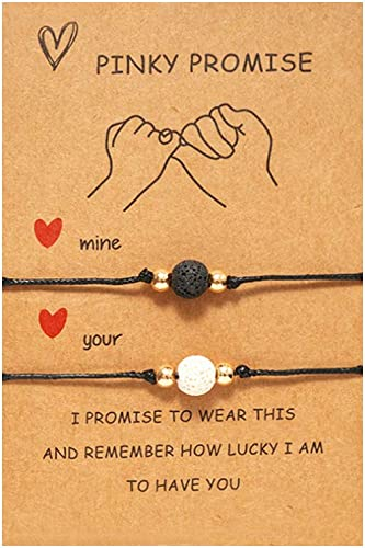 Amazon.com: Pinky Promise Bracelets Long Distance Relationships Gifts Matching Bracelets for Couples Bracelets for Boyfriend and Girlfriend: Clothing