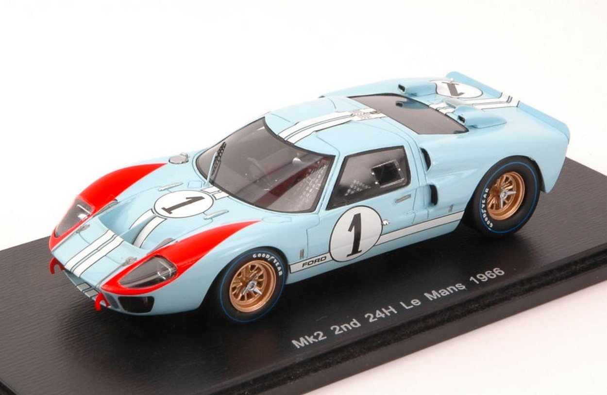 Die cast 1//43 Modellino Auto Ford GT40 MKII 24H Le Mans 1966