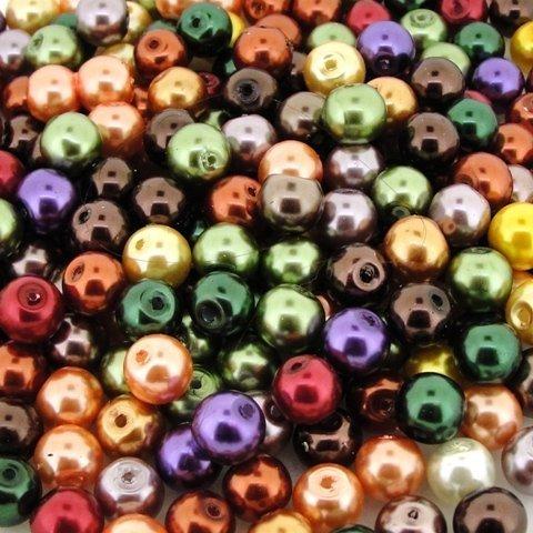 Beads Direct USA's Glass Pearls Mix 100pcs 8mm - Fall Mix