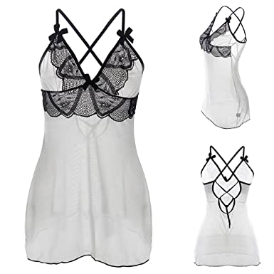 806a03a29 17YEARS Women s Sexy Patchwork Lace Sling Dress G-String Babydoll Erotic  Nightwear Set size 6XL