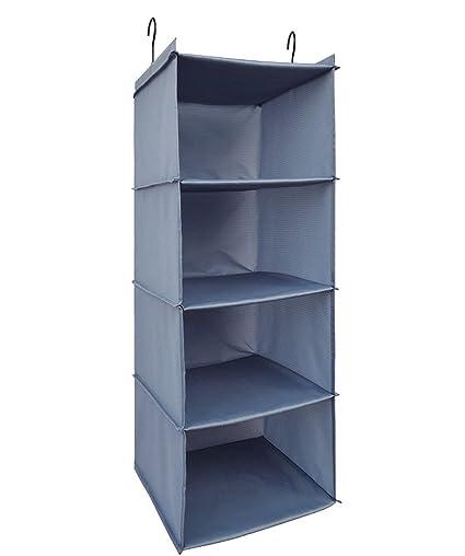 Organizador de armario BrilliantJo, 4 compartimentos Organizador de armario colgante de alta calidad con marco