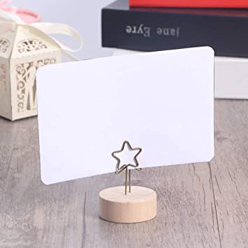 Photo Base Card Holder Note Photo Clip Messages Clip Wooden Memo Holder