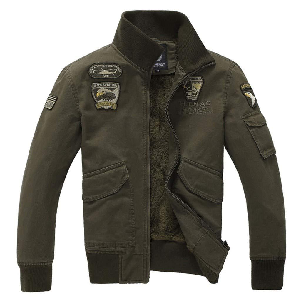 Benficial Coat for Men,Men's Fashion Military Uniform Baseball Jacket Fashion Tooling Coat 2019 New