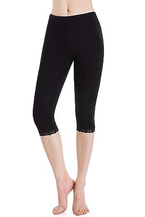 Legging 3 4 Sport Femmes Short sous Robe Pantalons de Survêtement Elastique  Doux c279e8a3f8b
