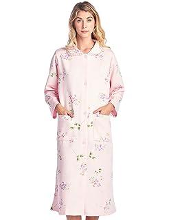 50335048af Amazon.com  Ouyilu Women s Cotton Button Front Long Sleeve Loungwear ...