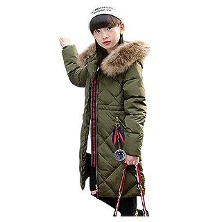 LSERVER-Bambine e Ragazze Piumino Invernale Giacca Impermeabile Piumino Ragazza Cappuccio Cappotto con Collo di Pelliccia X60B613LIU627V