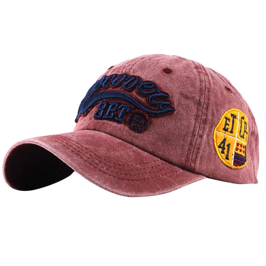 7a34aac9b8238 Amazon.com  Tuscom Mens Womens Baseball Cap Vintage Cotton Washed  Distressed Hats Classic Cotton Dad Hat Adjustable Plain Cap Twill Trucker  Hat Low Profile ...