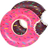 DMAR 1pcs 60cm Kids Pool Floats Donut Inflatable Pool Float Swim Rings Tubes Single