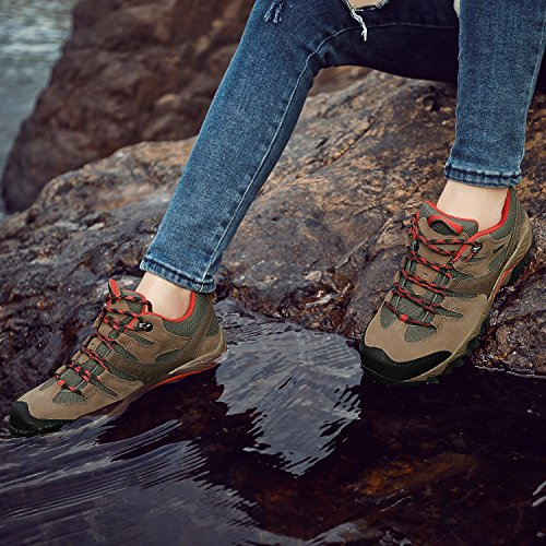 Pictures of HIFEOS Hiking BootsMens Womens Unisex Suede Leather 3