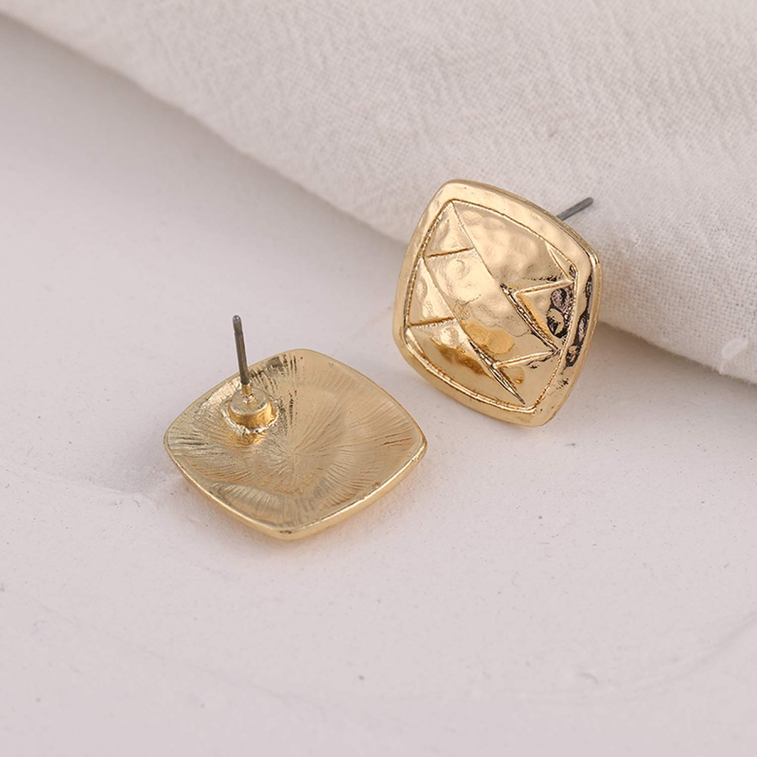 YMYW Fashion Korean Brand Minimalist Square Geometric Stud Earrings Metal Gold Silver Cheap Earrings For Female Party Jewelry
